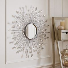 Perk up your home with the radiant reflection of Pier Natalie Sunburst Round Mirror. Crafted of cast iron and embellished with teardrop-shaped, acrylic crystals, our mirror makes a spectacular focal piece. And it looks just as stunning as you will in Sunburst, Room Decor, Decor, Beautiful Mirrors, Mirror Decor, Interior Decorating, Home Engineering, Entryway Decor, Home Decor