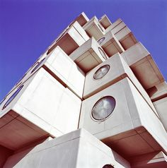 The Nakagin Capsule tower in Tokyo, designed by Kisho Kurokawa, finished in 1972.