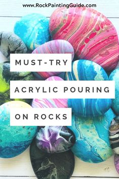 Acrylic Pouring on Rocks Guide Acrylic Pouring on Rocks Guide Rock Painting Guide Tips 038 Ideas for Painted Rocks rockpaintingguide Rock Painting Techniques Easy nbsp hellip Painting techniques Flow Painting, Pour Painting, Stone Painting, Acrylic Pouring Techniques, Acrylic Pouring Art, Painting Techniques, Acrylic Painting Rocks, Acrylic Craft Paint, Stone Crafts