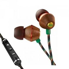 The House of Marley People Get Ready - Jammin' In-Ear Headphone with Mic - Rasta Wireless Headphones For Running, Bluetooth Earbuds Wireless, Headphones With Microphone, In Ear Headphones, Ipod, Sound Isolation, Headphone Holder, Samsung, Speakers