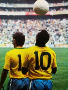 Pele before the inaugural 1970 Brasil's match against Czechoslovakia