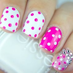 21 Examples Of Nail Designs for Short Nails To Inspire You ❤️ Polka Dot Nail Design picture 3 ❤️We have gathered here the trendies and the freshest ideas to pull off if your nails are quite short. https://naildesignsjournal.com/inspiring-nail-designs-for-short-nails/ #nails #nailart #naildesign #shortnails