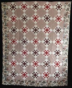 Antique 1851 Signed & Dated Star Quilt