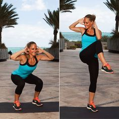 Squat Cross Crunch and more combo moves!