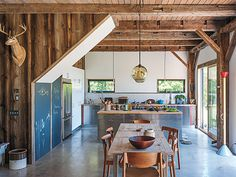 Credit: Matthew Williams This kitchen, in a19th-century barn in upstate New York, may look like the work of highly paid architects, but it'...