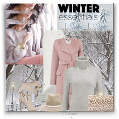 Pastels For Winter by ccroquer on Polyvore featuring polyvore, fashion, style, N.Peal, L.K.Bennett, Elie Saab, Jimmy Choo, Fantasia and rag & bone