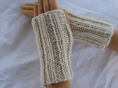 hand-knit short wrist fingerless gloves from Kiwi & Company in Denver