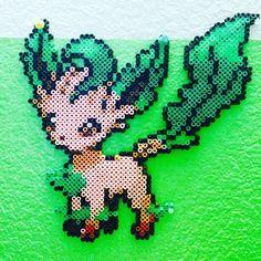 Leafeon Pokemon perler beads by poke_119