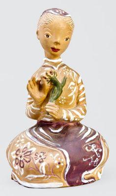 """""""Szeret, nem szeret"""" Kovács Margit 10 Picture, Tinkerbell, Sculpture Art, Disney Characters, Fictional Characters, Nostalgia, Museum, Ceramics, Christmas Ornaments"""