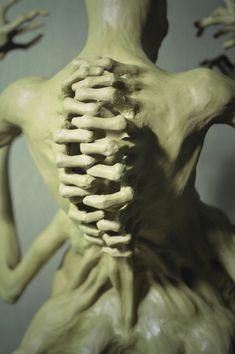 Centipede V Blind Hunger, Sadan Vague Creature Concept Art, Creature Design, Monster Design, Creepy Art, Magritte, Ap Art, Horror Art, Surreal Art, Sculpture Art