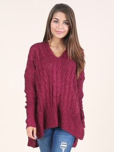 Altar'd State Cuddle Up Cable Knit Sweater