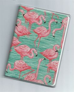 Flamingos passport cover - Etsy