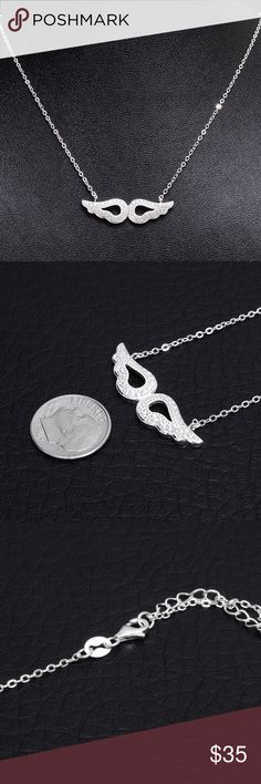 "Sterling Silver & Zirconium Necklace Chain Stamped ""925"", 18 inches long, adjustable   This is not a stock photo. The image is of the actual article that is being sold  Sterling silver is an alloy of silver containing 92.5% by mass of silver and 7.5% by mass of other mThe sterling silver standard has a minimum millesimal fineness of 925.   All my jewelry is solid sterling silver. I do not plate.   Made in Italy Jewelry Necklaces"