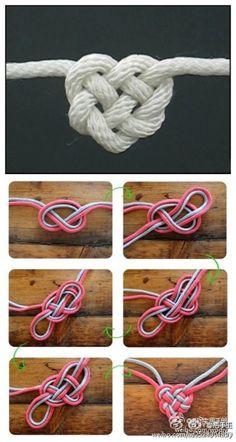 这个心形绳结叫凯尔特爱心结( Celtic Heart Knot ),真正的永结同心,是不是很浪漫不做懒女人