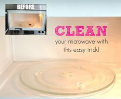 The easiest way ever to clean your microwave! Check out the other great cleaning tips in this post, too!