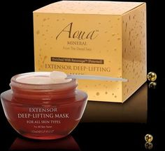 Aqua Mineral from the Dead Sea Extensor Deep-Lifting Mask by Aqua Mineral. $79.90. 1.7 Fl. OZ. Made in Israel. Based on *RenovageTM (Patented) a uniquely actively ingredient that is known to work through human DNA to prolong skins cells' lifespan and grow new skin molecules.. Aqua Mineral is a complete skin care system created to help slow down your skin's aging process and maximize its well being. Based on woderworking Dead Sea Minerals and cutting-edge Renovage...