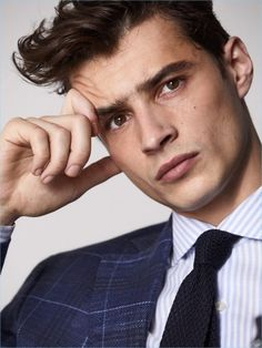 Adrien Sahores & Kit Butler Suit Up for Massimo Dutti Pretty Boys, Cute Boys, Brown Hair Male, Kit Butler, Emotional Photography, Beautiful Men Faces, Beautiful People, Actors Male, French Models