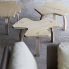 Cute oak coffee tables - Table Dog - designed by Christophe Delcourt