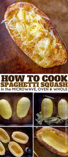 How To Cut, Cook and Season Spaghetti Squash in the Oven and Microwave EASILY!