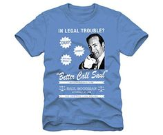 """Buying this geeky Breaking Bad Better call Saul T-Shirt hints that you love to follow your favorite TV show – Breaking Bad! This 100% cotton piece of clothing includes Walter White and Jesse Pinkman's criminal lawyer – Saul Goodman, who is a very funny and slick character and we all love his hilarious lines! """"So […]"""