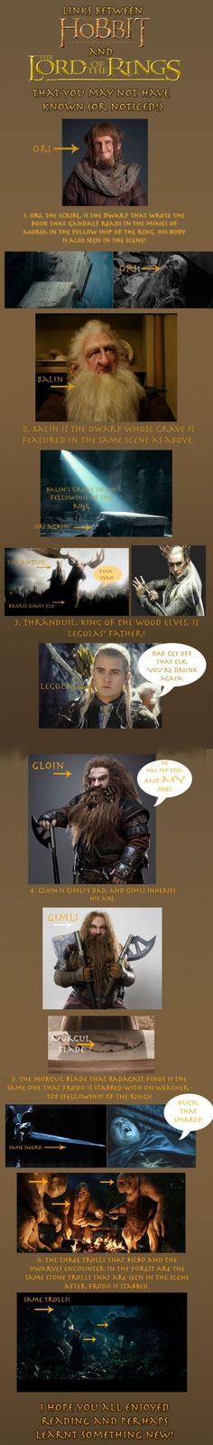 Awesome links between Hobbit and LOTR