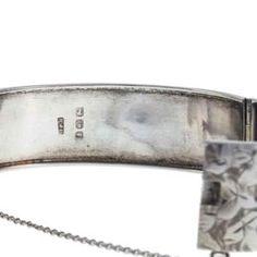 Victorian Sterling Silver Hinged Bangle with Floral Engraving Vine Design, Leaf Design, Birmingham Jewellery Quarter, Ivy Leaf, Silver Bangle Bracelets, Hand Engraving, Makers Mark, Antique Silver, Victorian