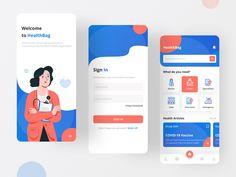 This is our new app design for HealthBag, a doctor consultation app. Mobile Web Development, Mobile Application Development, Mobile Design, App Design, Bern, Motion App, Enterprise Application, Ipad Tablet, Health Articles