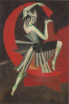 Alexandra Exter (Russian, 1884 - 1949)Design for Salome (Projet pour Salomé), 1917  Gouache sur papier / on paperviaphileas69