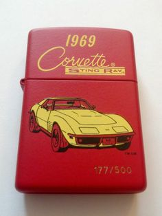 1969 Corvette Stingray Red Matte 177/500 Limited Edition Windproof Zippo Lighter