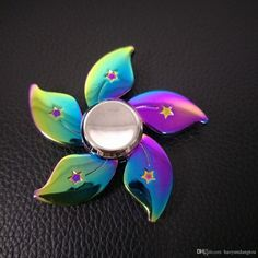 New Colorful fidget spinner EDC Hand Spinner Fidget Toy For Decompression Anxiety Finger Toys rainbow zinic alloy flower spinners Free DHL