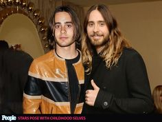 PEOPLE's 'Most Beautiful' Celebrities Posing with Their Younger Selves| Jared Leto in 2014 (right) and in 1994