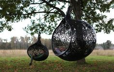 Maffam Freeform volcanic basalt hanging nest chairs.. the manu nest design starts at $1500.