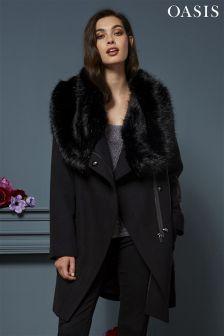 21d0b55715cc Oasis Abigail Faux Fur Wrap Jacket Faux Fur Wrap, Fall Winter Outfits, Fur  Coat