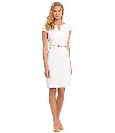 Antonio Melani Quince Shadow-Stripe Dress #Commandress