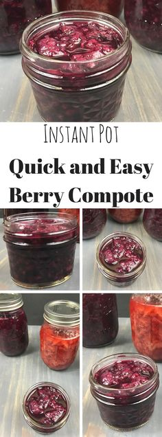Quick and Easy Instant Pot Berry Compote made with Whey! Great for Yogurt!