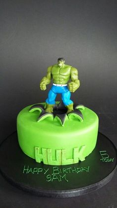 The Incredible Hulk This was for a friends son The cake and
