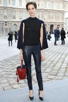 Street Style  Louis Vuitton #ParisFall2014 #PFWfall2014 #LV