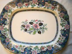 "Huge 22"" x 18"" Charles Meigh Son Gem Pattern Ironstone Platter C1851 