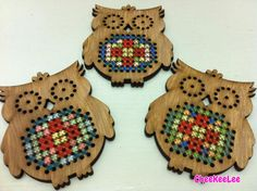 Cross Stitch Owl Kit Cross Stitch Owl, Cross Stitch Charts, Cross Stitch Embroidery, Cross Stitch Patterns, Diy And Crafts, Arts And Crafts, Wood Crosses, Beaded Jewelry Patterns, Weaving Patterns