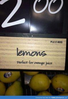 Lemons...perfect for orange juice.
