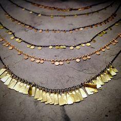 """Sia Taylor """"Dots"""" and """"Petals"""" necklaces"""