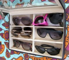 Look @kimgray's sunglass collection and this awesome storage for your sunnies from Cara Mia