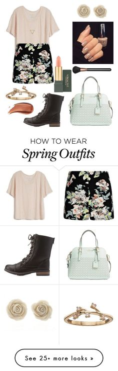 """""""Spring Outfit #62"""" by liziekay on Polyvore featuring Fine Collection, Wanderlust + Co, LC Lauren Conrad, Charlotte Russe, Kate Spade and MAC Cosmetics"""
