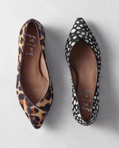 Take a (graceful) walk on the wild side in these unique, animal-print flats. Designed for a truly magnificent fit, they feature the alluring texture of calf hair, a sweet pointed toe, and the all-day comfort of an extra-padded footbed and a flexible sole.By French SolePrinted calf-hair upperLeather trimLeather liningMan-made soleDue to the nature of the printed calf hair, slight variations will occurImported