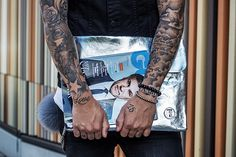 Washme Bag by T2Green | frontrowdiary  #fashionblog #stylist #blogger #fashion #bag #silver #tattoo #ink