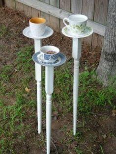 Tea Cup Birdfeeders
