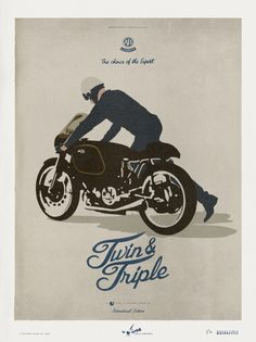 """aristocraticmotorcyclist: """" PORCUPINE AJS aristocratic motorcyclist © a deluxeposter by lorenzo """""""