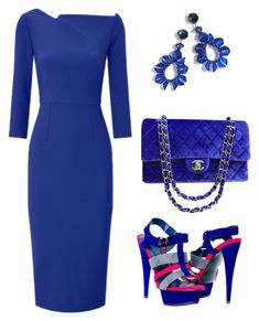 """Untitled #798"" by mchlap on Polyvore featuring Roland Mouret, Chanel and J.Crew"