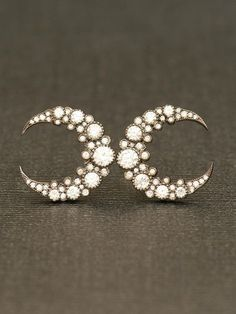I love these to the moon & back. #earrings #celestial from www.eozy.com