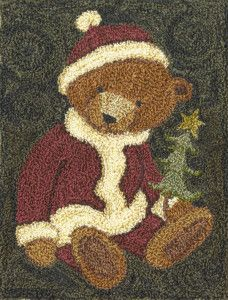 Punchneedle Patterns - patterns by teresa kogut Russian Embroidery, Hand Embroidery, Christmas Embroidery, Rug Hooking Patterns, Rug Patterns, Punch Needle Patterns, Latch Hook Rugs, Hand Hooked Rugs, Penny Rugs
